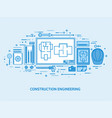 engineering and architecture drawing construction vector image