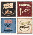 Fishing Retro Compositions vector image vector image