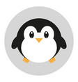 flat icon with penguin in kawaii style vector image