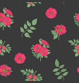 floral seamless pattern with elegant dog rose vector image vector image