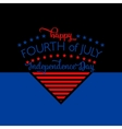 Fourth of july background Felicitation triangle vector image vector image