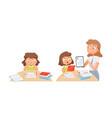 girl studying self education teacher helps vector image