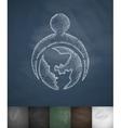 globe icon Hand drawn vector image
