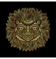 golden lion head tribal pattern image of a lion vector image