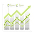 Green arrow up diagram on vector image vector image