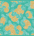 Green gold floral bouquet seamless texture