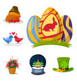 happy holidays different icons holidays vector image