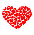 heart consisting hearts to vector image