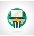 Home cinema color detailed icon vector image vector image