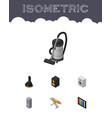 isometric electronics set of vac kitchen fridge vector image vector image