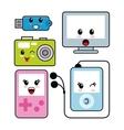 Kawaii icon technology Cartoon design vector image vector image