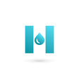 Letter H water drop logo icon design template vector image vector image