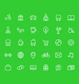line icons set for maps and navigation apps vector image vector image