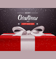 merry christmas and happy new year background red vector image