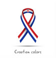 modern colored ribbon with the croatian tricolor vector image vector image