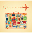 modern flat style icons set for tourism industry vector image vector image