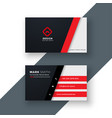 modern red business card design vector image vector image