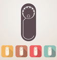 Newborn baby flat icon set in color boxes with vector image