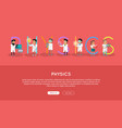 physics banner science alphabet vector image vector image
