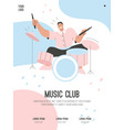 poster music club concept vector image