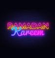 ramadan kareem festive card design template in vector image vector image