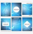 scientific brochure design template flyer vector image vector image