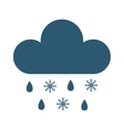 Snow cloud vector image