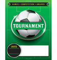 Soccer Tournament Template vector image vector image