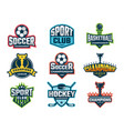 sport emblem super star world cup competition vector image