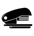 stapler icon simple black style vector image vector image