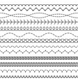 stitch lines stitched seamless pattern threading vector image vector image
