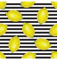 striped seamless pattern with whole lemons vector image vector image