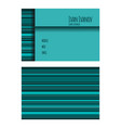 template of business card in blue tones with vector image vector image