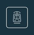 tramway icon line symbol premium quality isolated vector image
