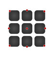 ui icon set black app buttons concept isolated on vector image