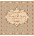 vintage congratulatory background vector image vector image