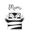 with joyful cat who shouts - mom for vector image vector image