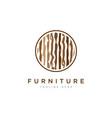 wood texture symbolfurniture logo design vector image