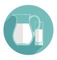 modern flat design of milk vector image