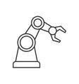 robotic arm outline icon vector image