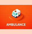 ambulance isometric icon isolated on color vector image