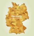 map of germany - bundesrepublik deutschland vector image