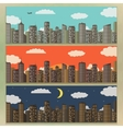 Three Urban Landscape Banners Summer City vector image