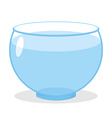 Aquarium with water Transparent glass tank for vector image vector image