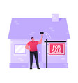 assets and liabilities concept auctioneer vector image vector image