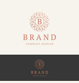 b brand logo vector image vector image