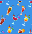 background with cocktails flat style summer vector image vector image