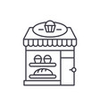 bakery line icon concept bakery linear vector image vector image