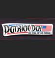 banner for patriot day vector image vector image