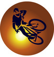 bicycle racer extreme vector image vector image